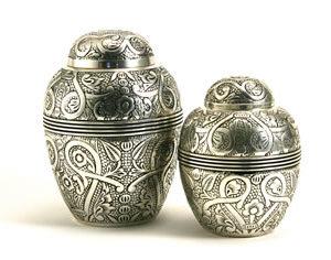 Silver Embossed Urn