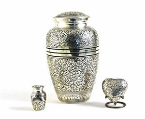 Antique Silver Oak Urn