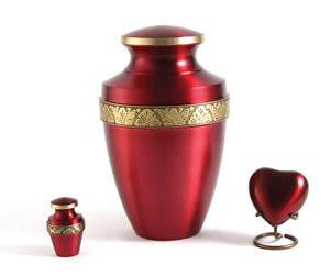 Grecian Crimson Urn