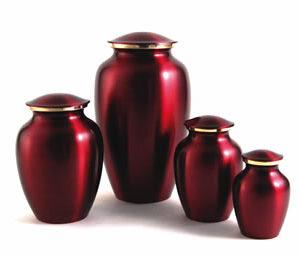 Classic Crimson Urn