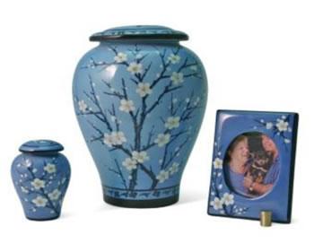 Floral Plum Urn