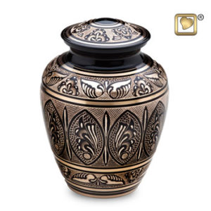 Black and gold urn large