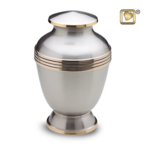 Large elegant pewter urn