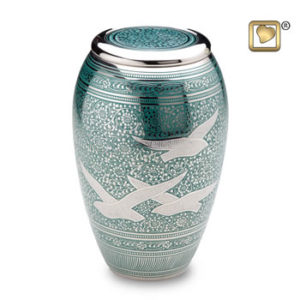 Returning home large urn