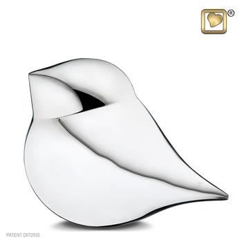Silver sould bird urn