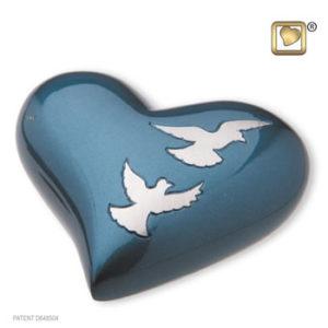 Flying doves heart
