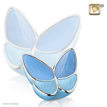 Wings of hope blue urn keepsake
