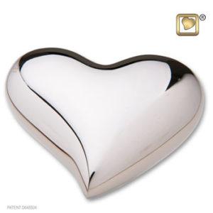 Bright silver heart
