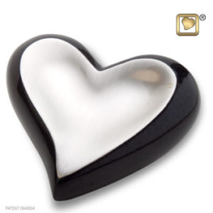 Pewter and midnight heart