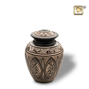 Black and gold medium urn