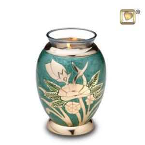 Rose emerald tealight