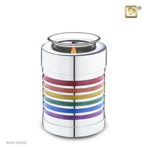 Rainbow tealight