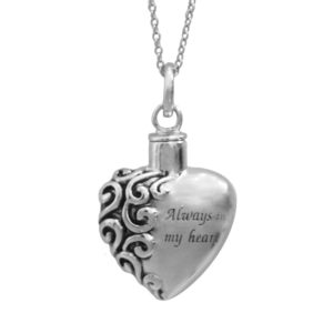 Always in my Heart Ash Pendant (chain included) (F)