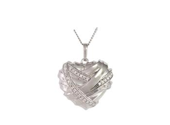 Healing heart ash pendant
