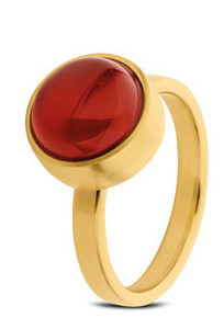 Red Agate Ring GOLD