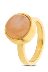 Rose Quartz Ring GOLD