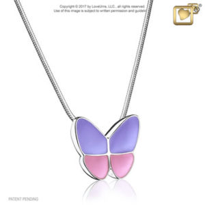 Wings of Hope (Lavender) Ash Pendant