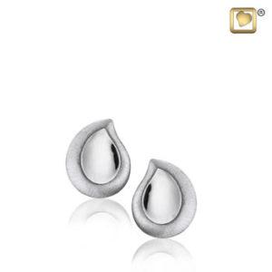 Teardrop (Silver-Two Tone) Earring