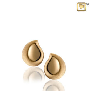 Teardrop (Gold-Two Tone) Earring
