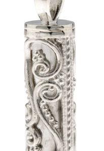 Filigree Cylinder Pendant - 925 SS