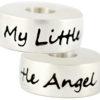 Round My Little Angel Bead - 925 SS