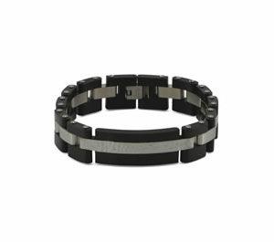 Cable Link Bracelet (Onyx)