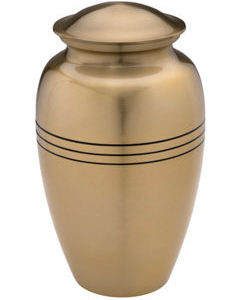 Radiance large gold urn
