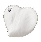 Loveheart pearl keepsake urn