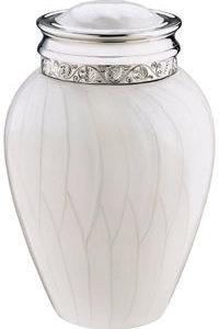 medium white blessings urn