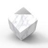 Modurn marble silver urn